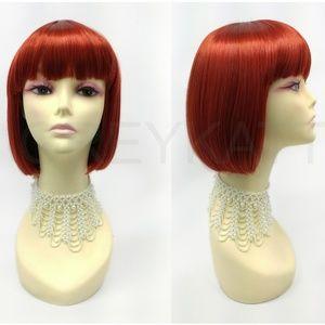 Henna red bob wig